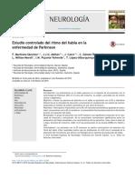 Estudio Controlado Del Ritmo Del Habla en La Enfermedad de Parkinson