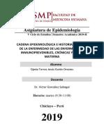 Informe 3 Epidemiología - Rotación C.S. JLO