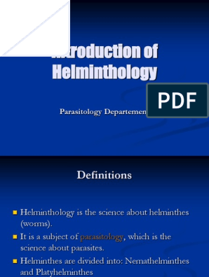 Ppt helmintologie medicală