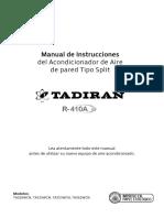 Manual Aire Acondicionado Tadiran R410A