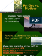 petroleo vs biodiesel