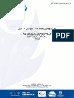 Carta Deportiva Fundamental XIV Juegos Municipales 2019
