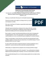 09252019 CM Grosso Opening Statement - Marijuana in Employment Hearing