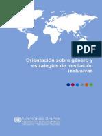 Orientación sobre género y estrategias de mediación inclusivas