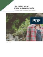 10 Señales Que Indican Que Un Adolescente Tiene Un Trastorno Mental