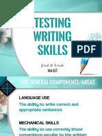 Testing Writing Skills