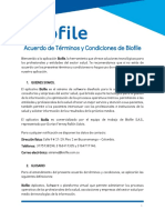 Acuerdo de Términos y Condiciones de Biofile