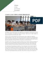 Compulsory Education Program
