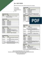 2019 ccd schedule