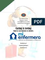Caring is Loving Empresa de Cuidados Administracion de Enfermeria II