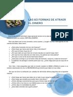 Las 60 Formas de Atraer El Dinero