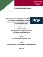 PROPUESTA DE MEJORA CONTINUA DE LA PRODUCTIVIDAD EN EL ÁREA DE PRODUCCIÓN