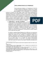Clases de Competencia Jurisdiccional de Los Tribunales Peruanos