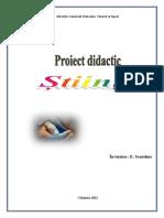 Prima pagina proiect didactic