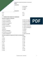 Ejercicios Formulación Inorganica 1º BCH