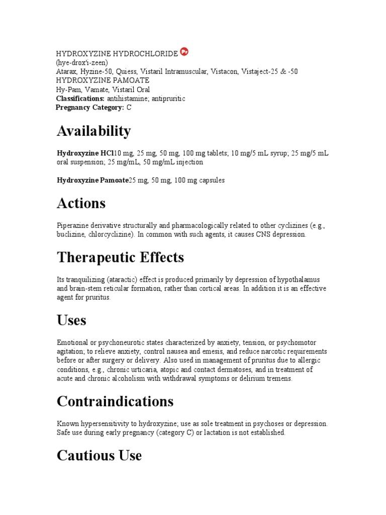 HYDROXYZINE HYDROCHLORIDE   Drugs (237 views)