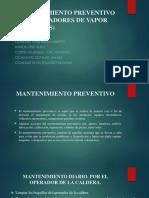 Mantenimiento Preventivo en Generadores de Vapor Calderas