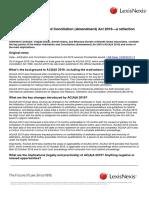The India Arbitration and Coalition (Amendment) Act - 2019