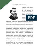 Biografía de Charles Sanders Peirce