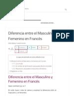 Diferencia Entre El Masculino y Femenino en Francés - Pariseando