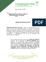 Derecho Peticion c. Previa Nelcido