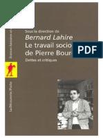 Le travail sociologique de Pierre Bourdieu.pdf