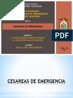 Cesareas de Emergencia