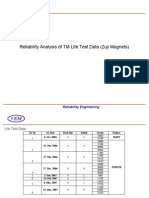 TM - Life Test Data Analysis