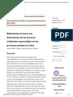 Referencias en Torno a La Intervención de Los Terceros Civilmente Responsables en Los Procesos Penales en Cuba _ Matos Hidalgo _ Ratio Juris