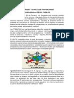 Principios y Valores Que Proporcionan El Desarrollo de Los Pueblos