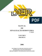 DER SP Sinalização Volume1