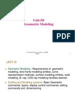 UNIT-III Geometric Modeling