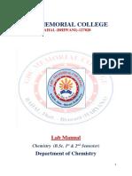 Chemistry b.sc 1st Year Lab Manual