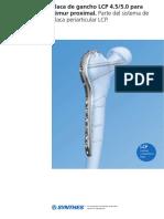 Tecnica Quirurgica Placa Gancho Anatomica Proximal de Femur