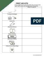 First Aid Kit Worksheet
