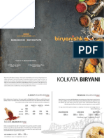 Biryanishk Restaurant Menu