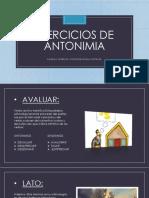 Ejercicios de Antonimia