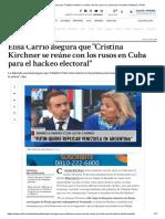Elisa Carrió asegura que _Cristina Kirchner se reúne con los rusos en Cuba para el hackeo electoral_ _ Perfil.pdf