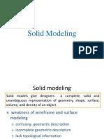 Unit III Solid Modelling