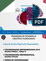 Universidades Emprendedoras (LANZAMIENTO 2019)