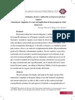 Querella Autonoma - Monografia (Min. Publico)