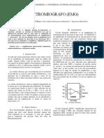 Informe elaboración EMG - Bioinstrumentación