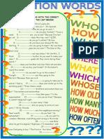 Question Words Practice