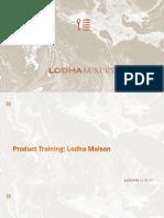 Product Training_Lodha Maison
