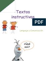 Textos instructivos PPT