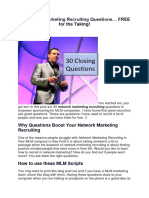 30 Network Marketing Recruiting Questions