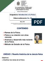Conferencia Nº 02 Clasificación de Las Ramas de La Física ISemestre 2019