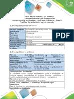 Guía de Actividades y Rubrica de Evaluación - Fase 3 - Planificar Las Actividades Para El Montaje de Un Vivero