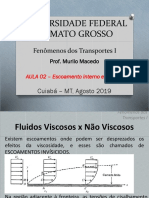 Aula 02 - Fenômenos de Transporte 1 - Escoamento Interno e Externo