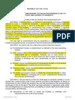 Condominium Act (RA 4726)